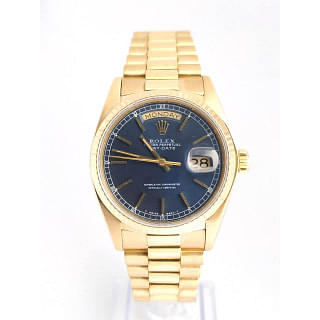 Rolex Day-Date President Blue Dial 18K Gold