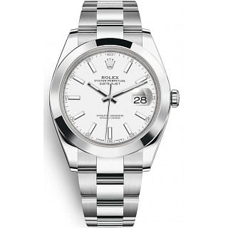 Rolex Datejust II 41MM White Index Stainless Steel Oyster