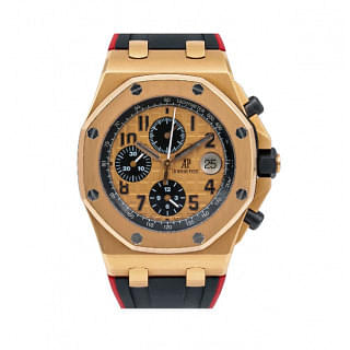 Audemars Piguet Royal Oak Offshore Chronograph 42MM Rose Gold Dial With Rubber Bracelet