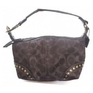 Coach Signature Lurex Chocolate Studded Purse