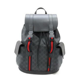 Gucci GG Supreme Black Backpack