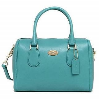 Coach Mini Bennett Crossgrain Leather Crossbody Satchel