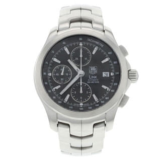Tag Heuer Link Chronograph Steel Automatic Mens Watch