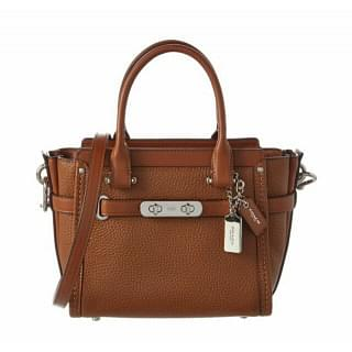 Coach Swagger 21 Saddle Brown Leather Satchel