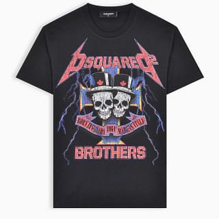 D Squared Black Brother T-Shirt