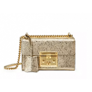 Gucci Padlock Metallic Shoulder Bag