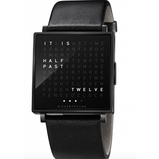 Biegert & Funk QLOCKTWO W TIME IN WORDS -BLACK