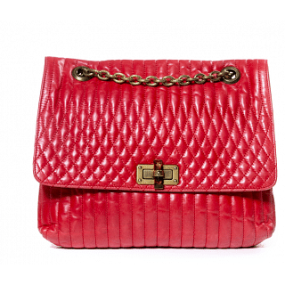 Lanvin Red Happy Shoulder Bag