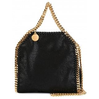 Stella McCartney Black with Gold Tiny Falabella Tote