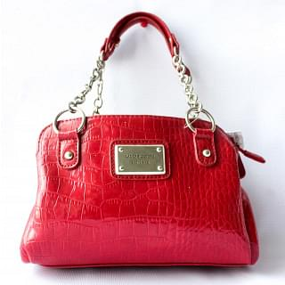 Liz Claiborne Red Croc Effect Shoulder Bag