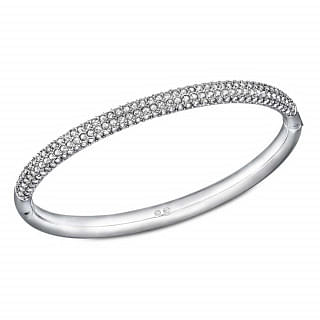 Swarovski Stone Mini Clear Crystal Bangle Bracelet