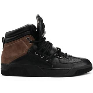 Dolce & Gabbana Black Leather High Top Sneaker