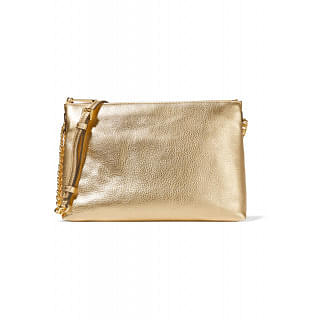 MICHAEL MICHAEL KORS Jet Set metallic textured-leather shoulder bag