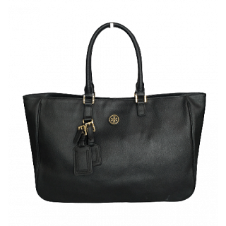Tory Burch Roslyn Black Leather Tote
