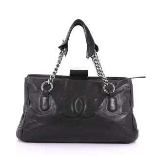 Chanel Black Calfskin Leather Perfect Day Extra Tote