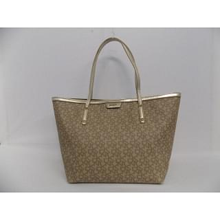 DKNY Monogram Canvas with Leather Trim Tote