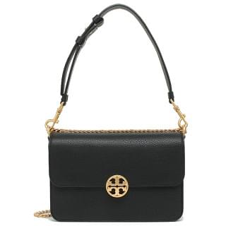 Tory Burch Chelsea Leather Crossbody Bag- Black