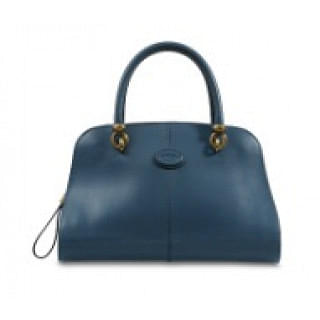 Tods Sella Navy Small Leather Bowler Bag