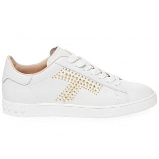 Tods Studded T Leather White Sneaker