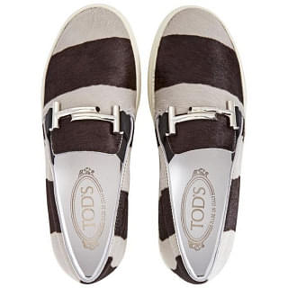 Tods Womens Slip-on Loafers in Grey