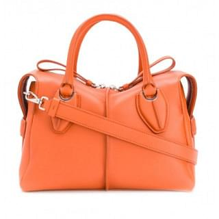 Tods D-Styling Medium Leather Shopping Bag