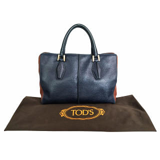 Tods D-Styling Medium Bauletto Leather Tote