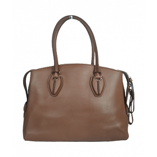 Tods D-Styling Convertible Bauletto Leather Satchel