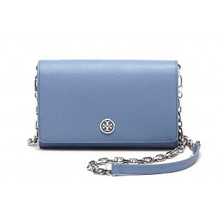 Tory Burch Robinson Crossbody Saffiano Chain Wallet