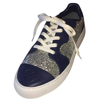 Tory Burch Milo Glitter Lace Up Sneaker