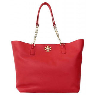 Tory Burch Mercer Chain Handle Leather Tote