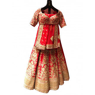 Sabyasachi Bridal Wedding Red Lehenga