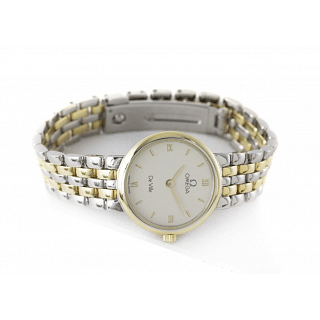 Omega De Ville Steel Gold Quartz Women's Watch