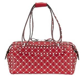 Valentino Rockstud Spike Duffle Bag - Red