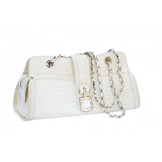 Gianni Versace Couture Quilted White Leather Bag