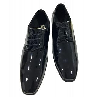Kenneth Cole Patent Leather Lace Up Shoes