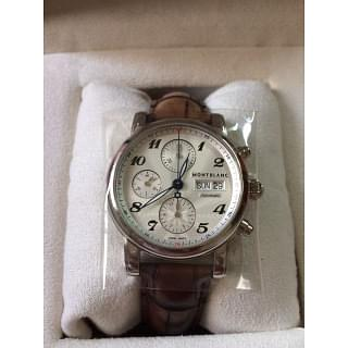 Montblanc Star Automatic Chronograph Silver Dial Men's Watch