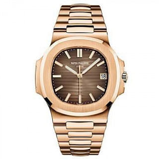 Patek Philippe 5711/1R-001 Rose Gold Men Nautilus Full Gold