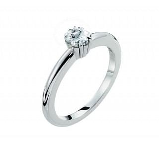 Montblanc La Dame Blanche Collection Platinum 0.76 ct Diamond Solitaire, Montblanc Logo Star Cut, D VVS1 Grade