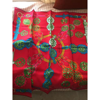 Hermes Red Cuivrerie Scarf