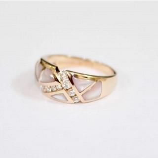 KABANA New Mexico Rose Gold Mother of Pearl Ring