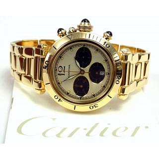 Cartier Pasha Chronograph Yellow Gold Quartz Watch