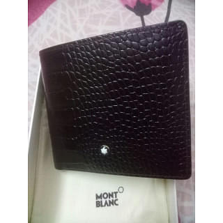 Montblanc Brown Croc Leather Wallet