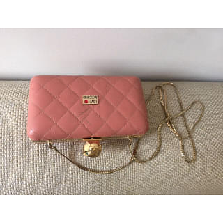 Moschino Quilted Clutch With Strap
