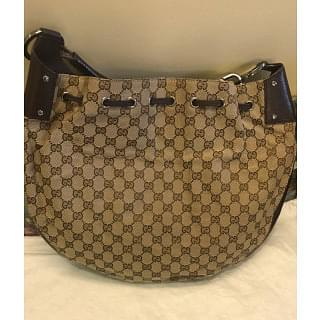 GUCCI GG Monogram Canvas Hobo