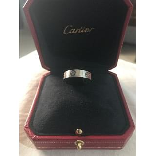 Cartier 18 Carat White Gold Love Ring