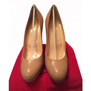 Christian Louboutin Simple Patent Red Sole Nude Pump