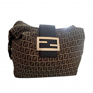 Fendi Monogram Brown Canvas Bag