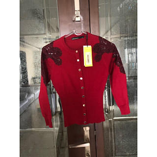 Karen Millen Red Cardigan