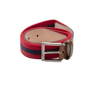 Carolina Herrera Fabric and Leather Handmade Belt