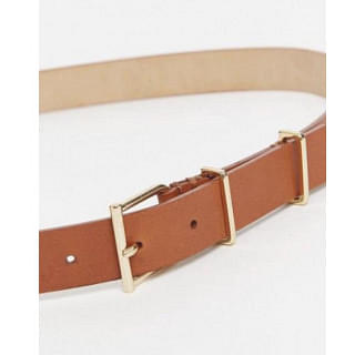Reiss Tan Brown Large Leather Belt